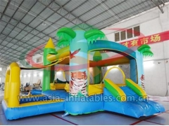Military Inflatable Obstacle Inflatable Palm Tree Bouncer With Ball Pool