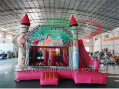 Customized Inflatable Cinderella Jumping Castle With Slide