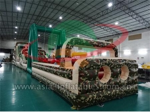 Military Inflatable Obstacle Commercial Use Inflatable Boot Camp Obstacle For Event