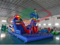 Strong Style Outdoor Inflatable Superman challenge Obstacle Course in Factory Price