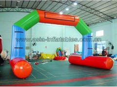 Touchdown Inflatables Durable PVC Tarpaulin water floating Inflatable airtight arch for advertising
