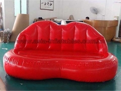 Hot Selling Custom Inflatable Red Lip Mouth Shape Sofa for Party In Factory Price