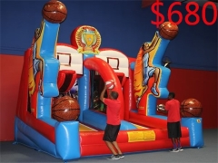 Shooting Stars Inflatable Basketball game & Bungee Run Challenge