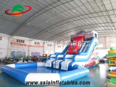 Inflatable Car Slide with Pool