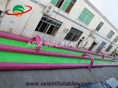 100m Inflatable Water Games Double Lane slide city