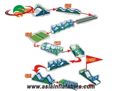 Inflatable Assault Obstacle Courses For School Training for Party Rentals & Corporate Events