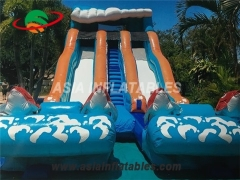 big kahuna inflatable water slide with double lane