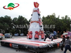 Touchdown Inflatables Customized Durable PVC Inflatable Climbing Wall Inflatable Rock Climbing Wall For Children
