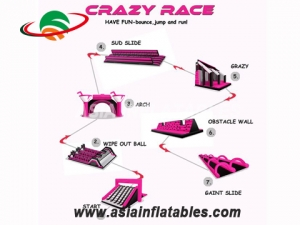 Waterproof Inflatable 5K Obstacle Course Races